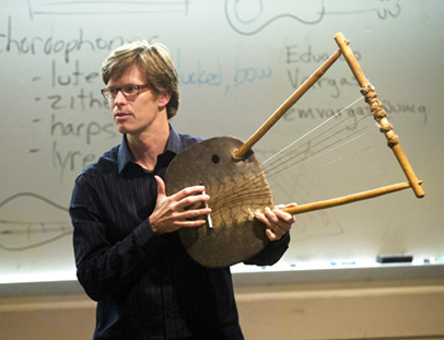 Gavin Douglas with East African lyre
