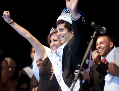 Tuso '11 celebrates being crowned Homecoming King in 2009