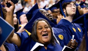 Image of graduates at commencement