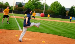 Photo of Dr. Seung-Hyun Lee at kickball game
