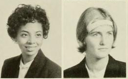 Yearbook photos of Karen Parker and Joanne Johnston-Francis
