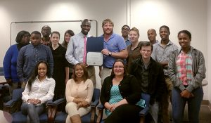 Group photo of the UNCG-AMA chapter