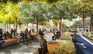 Photo of rendering of what the walkway at Forest may look like someday