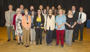 Photo of the recipients at the close of the ceremony