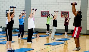 Photo of faculty and staff participation in ActiveU