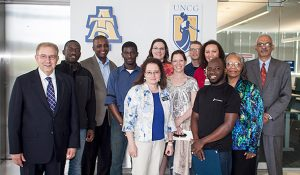 Photo of some of the program's students and leaders