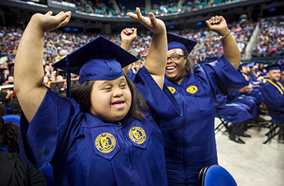 Beyond Academics graduates at the Greensboro Coliseum