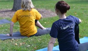 Photo of yoga on the lawn