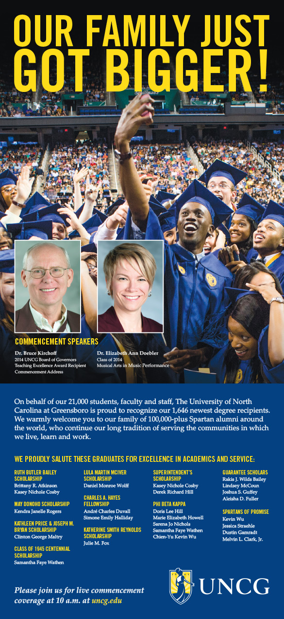 Photo of Commencement Ad