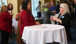 Photo of opening reception for leadership institute