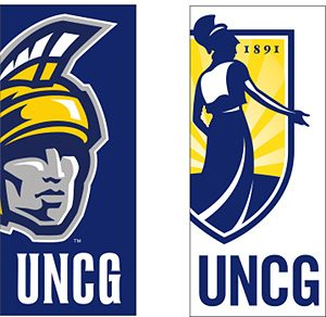 Photo of two banners that will be installed on posts on campus this summer