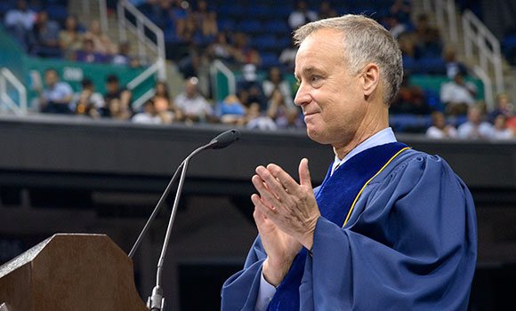 'You're off to great places,' Tim Rice tells UNCG graduates