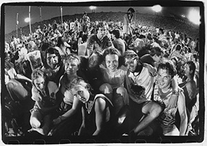 Photo of Rebecca Adams and UNCG students, summer 1989