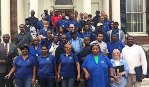 Group photo of Housekeepers in the Facility Services Department were honored at an Awards Day Celebration