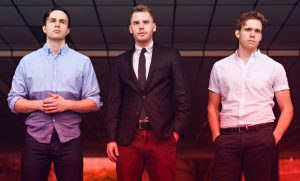 Photo (from right to left) David Lezcano '15, Will Howard and Justin Mackey formed soul/pop trio Citizen Shade last fall (Photo by Russell-Killen Photography)