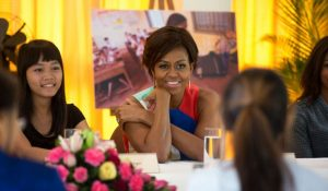Photo of Michelle Obama during a trip to Asia