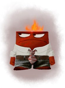 "Eggleston's concept art of a character called ""Anger."" Disney•Pixar"