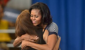 Michelle Obama at UNCG, 2014. University Relations archives.