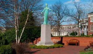 Photo of Minerva statue.
