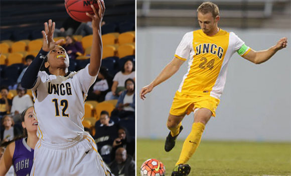 UNCG athletes double-team Academic All-American Honors