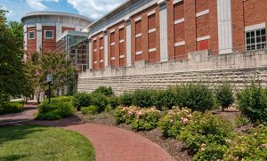 Photo of the outside of the UNCG Music Building
