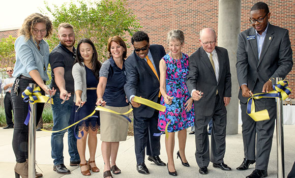 Campus community celebrates dedication of Kaplan Center