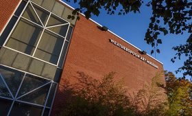 Exterior photo of the Weatherspoon Art Museum