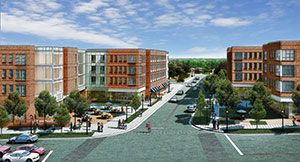 A rendering of Spartan Village Student Housing Phase II
