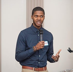 UNCG doctoral student Donovan Livingston speaks at