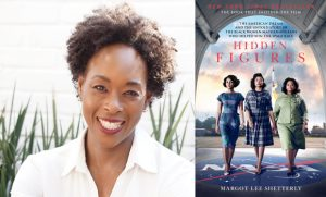 Photo of Margot Lee Shetterly and her book cover