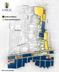 Map of future Millennial Campus districts.