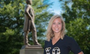 Photo of Holly Shields on campus