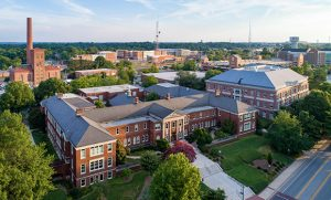 Aerial photo of UNCG campus