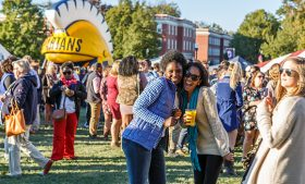 Photo of UNCG alumni at Homecoming 2016