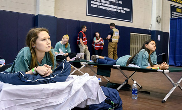 UNCG and UNCW collaborate on full-scale hurricane evacuation exercise