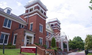 Exterior photo of North Spencer Residence Hall
