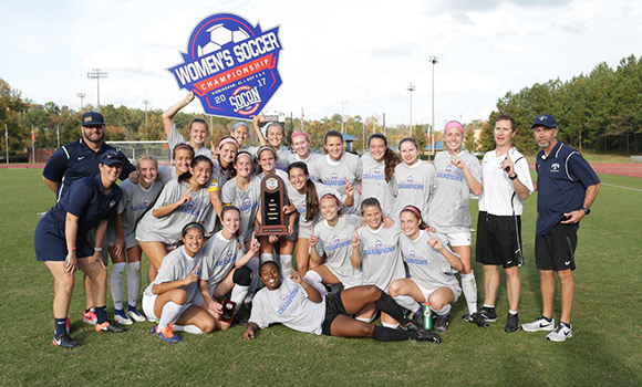 Women's soccer wins SoCon title, earns NCAA Tournament berth