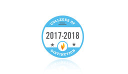 badge for College of Distinction for 2017-2018