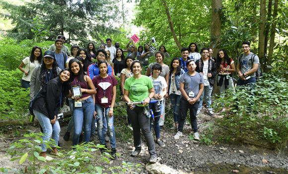 Group photo of CHANCE students at the wetlands