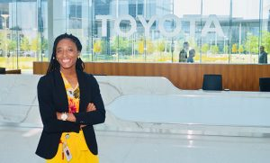 Photo of Carlena at Toyota offices