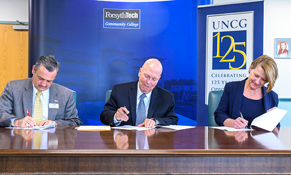 UNCG, Forsyth Tech announce new co-admission program