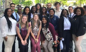 Group photo of students in Washington, D.C.