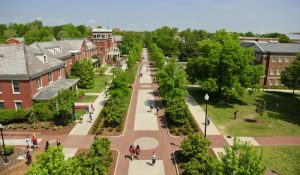 Arial image of College Ave