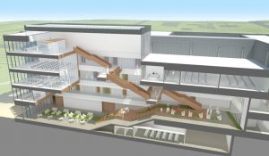 Cross-section of the Nursing and Instructional Building