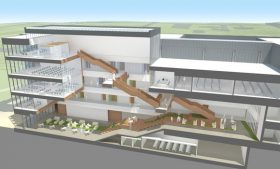 Cross-section rendering of Nursing & Instructional Building