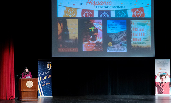 Award-winning author Reyna Grande visits campus to engage with students