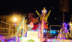 Photo of Jessica Mashburn performing at the festival of lights