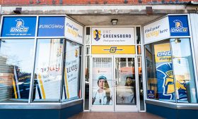 Photo of UNCG Pop Up Shop storefront
