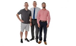 Photo of Dean Castaldo, Brad Wrenn and Eduardo Pinero