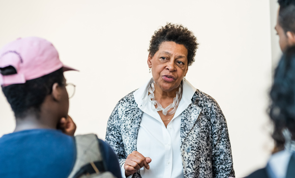 Visiting artist Carrie Mae Weems inspires students